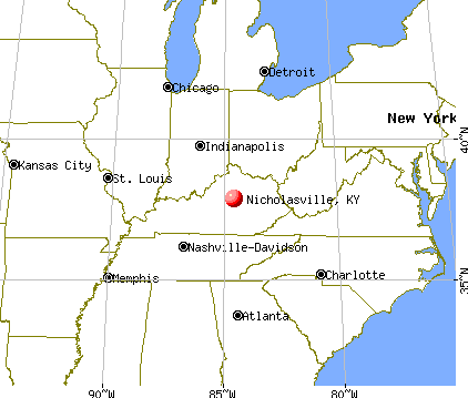 Nicholasville, Kentucky map