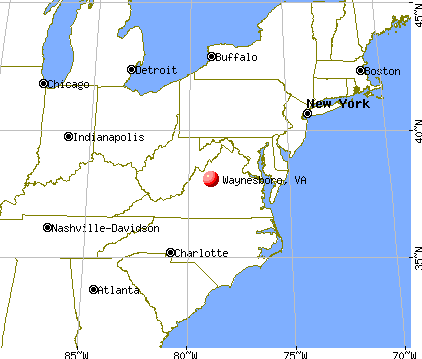 Waynesboro, Virginia map