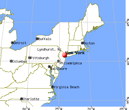 Lyndhurst, New Jersey map