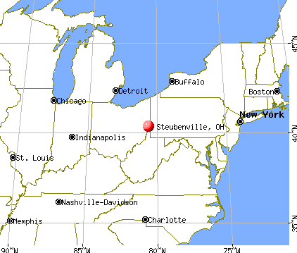 Steubenville, Ohio map