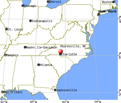 Mooresville, North Carolina map