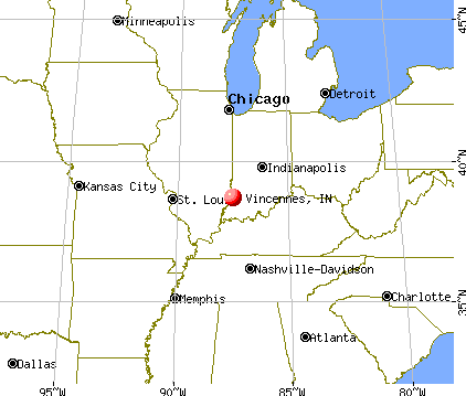 Vincennes, Indiana map