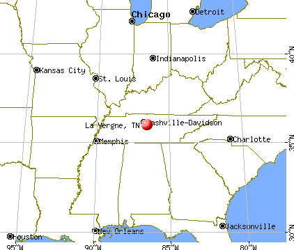 La Vergne, Tennessee map