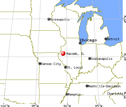 Macomb, Illinois map