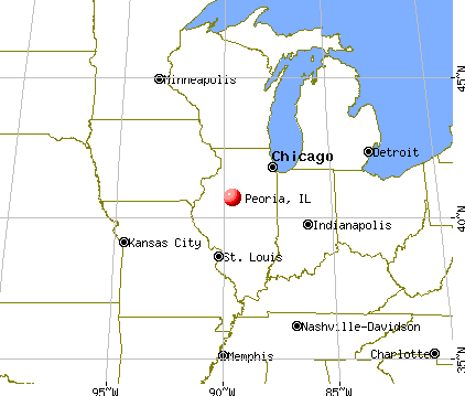 Peoria, Illinois map