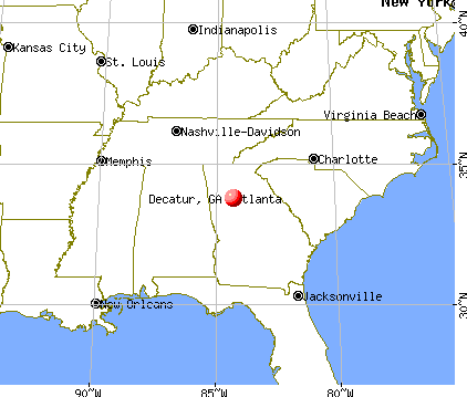 Decatur, Georgia map
