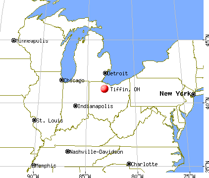 Tiffin, Ohio map