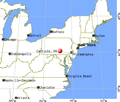 Carlisle, Pennsylvania map
