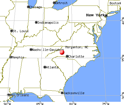 Morganton, North Carolina map