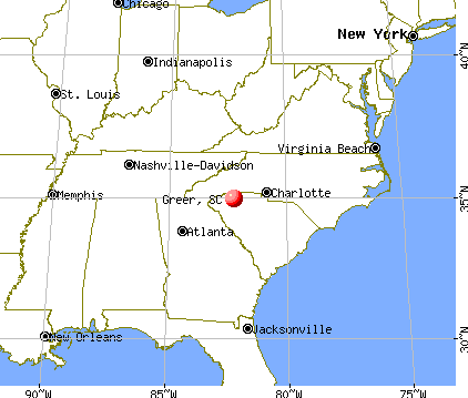 Greer, South Carolina map