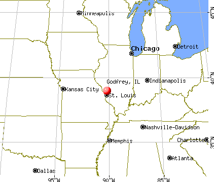 Godfrey, Illinois map
