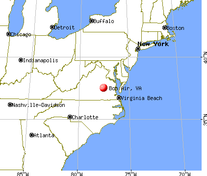 Bon Air, Virginia map