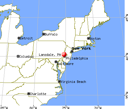 Lansdale, Pennsylvania map