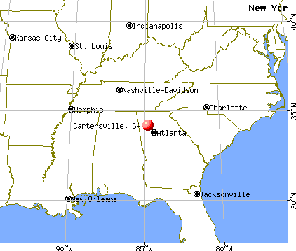 Cartersville, Georgia map
