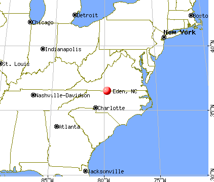 Eden, North Carolina map