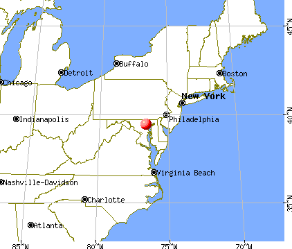 Lutherville-Timonium, Maryland map