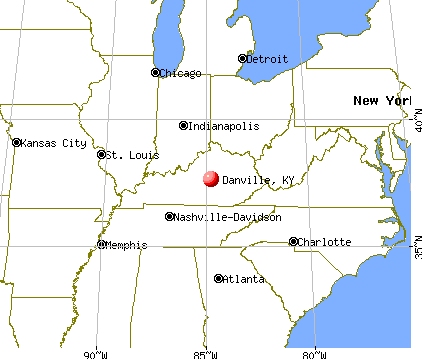 Danville, Kentucky map