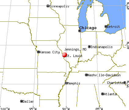 Jennings, Missouri map