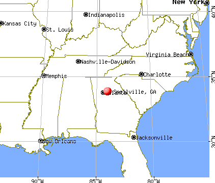 Snellville, Georgia map
