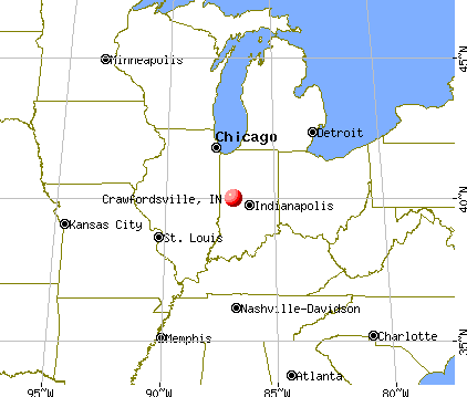 Crawfordsville, Indiana map