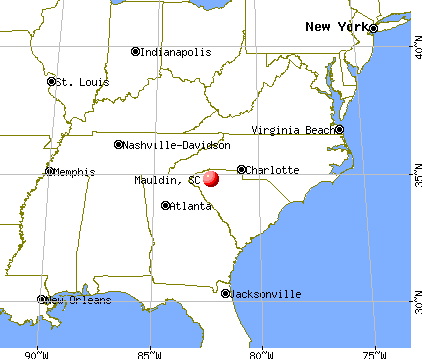 Mauldin, South Carolina map