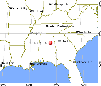 Talladega, Alabama map
