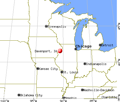 Davenport, Iowa map