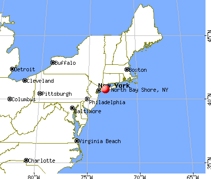 North Bay Shore, New York map