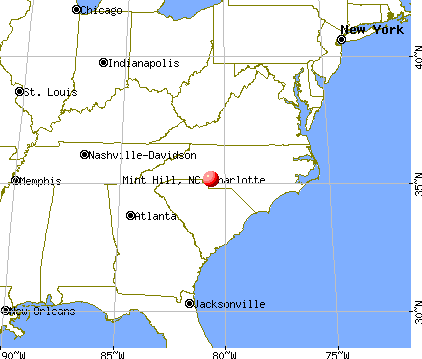 Mint Hill, North Carolina map