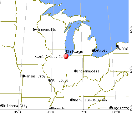 Hazel Crest, Illinois map