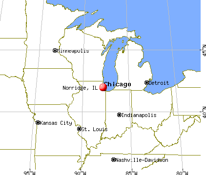 Norridge, Illinois map
