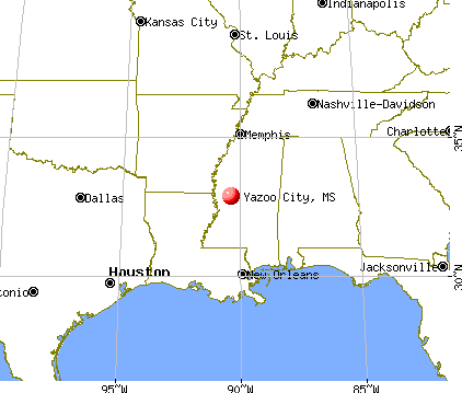 Yazoo City, Mississippi map