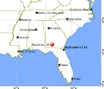 Moultrie, Georgia map