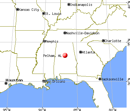 Pelham, Alabama map
