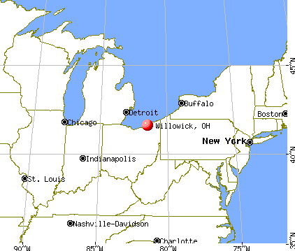 Willowick, Ohio map