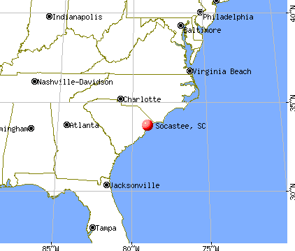 Socastee, South Carolina map
