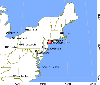 Westbury, New York map