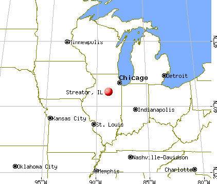 Streator, Illinois map
