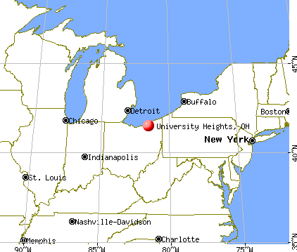 University Heights, Ohio map