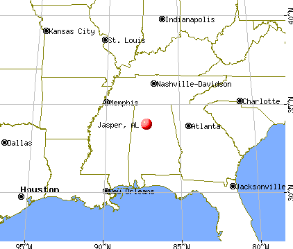 Jasper, Alabama map