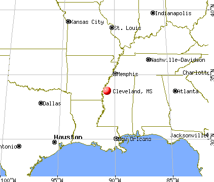 Cleveland, Mississippi map