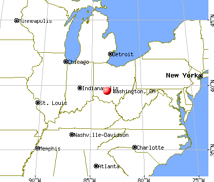 Washington, Ohio map