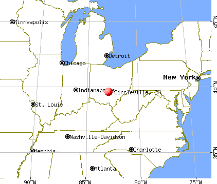 Circleville, Ohio map