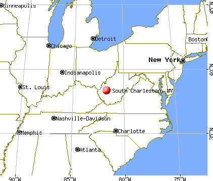 South Charleston, West Virginia map