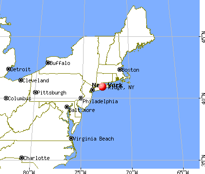 Ridge, New York map