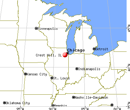 Crest Hill, Illinois map