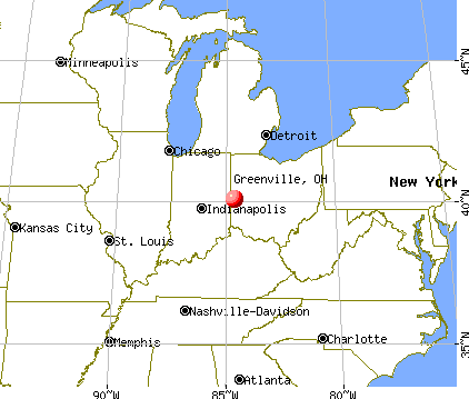 Greenville, Ohio map