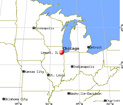 Lemont, Illinois map