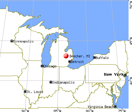 Beecher, Michigan map