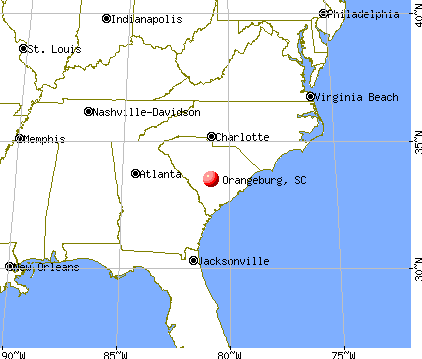 Orangeburg, South Carolina map